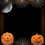 spiderwebs and pumpkins by me